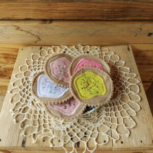 felt biscuits with sprinkles