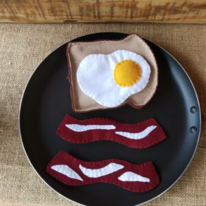 Bacon egg and toast breakfast