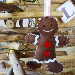 Gingerbread man red buttons
