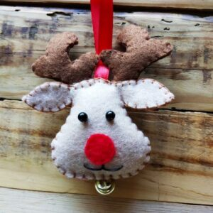 reindeer head with red nose
