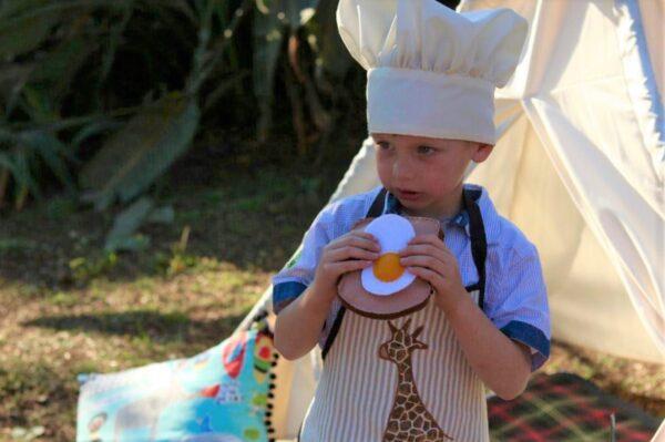 mushroom hat for kiddies baking