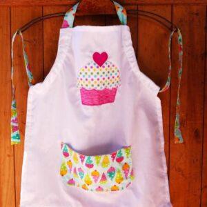 Ice-cream motif apron